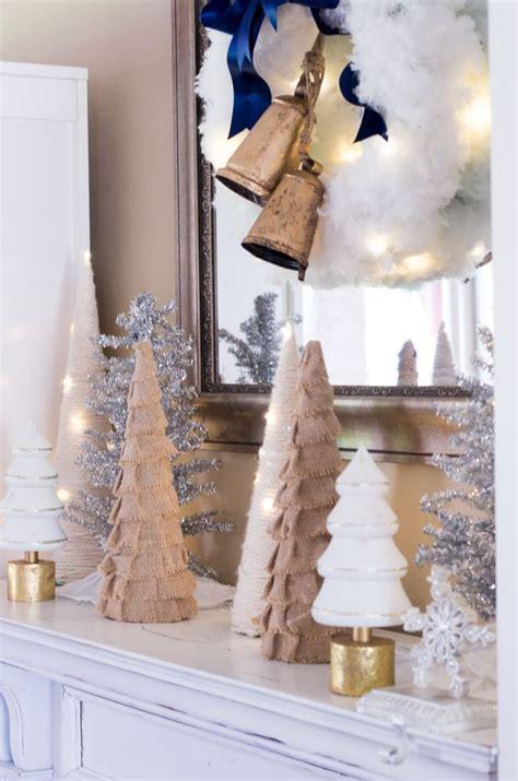 rustic glam christmas decor mantel mantle christmas