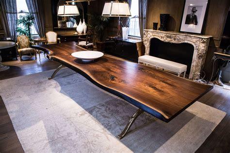 edge table solid american black walnut  eedge