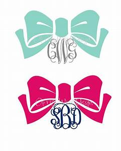 Bow Monogram Car Decal by OhMyWordDesigns on Etsy, $9.00 ...