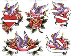 Rose with Ribbon Tattoo