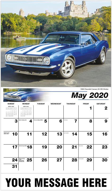 gm classic cars calendar promotional calendar vintage car calendar