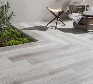 Carrelage Extérieur Terrasse : du carrelage gris effet bois pour la terrasse terrasse ~ Voncanada.com Idées de Décoration