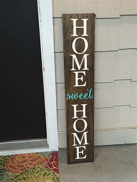 large front porch sign home sweet home sign