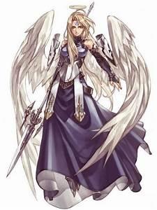 Anime White Winged Warrior Angel Image - Anime White ...