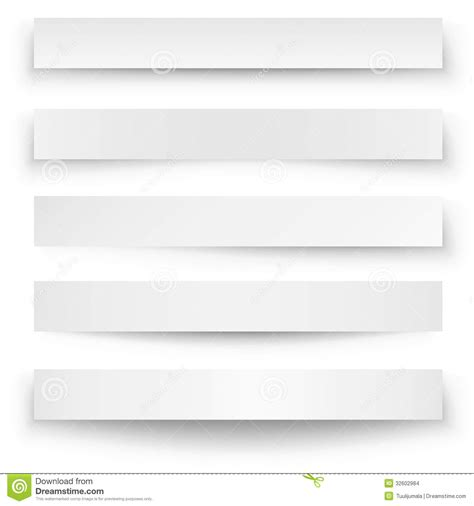 Banner Shadow Template Stock Vector. Image Of Gray