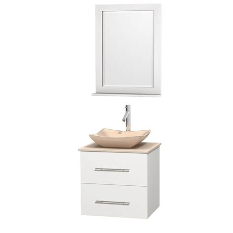 wyndham collection wcvw00924swhivgs2m24 centra 24 inch single bathroom vanity in white ivory