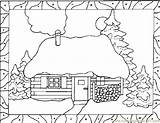 Coloring Snow Pages Fall Printable Houses Blower Coloringpages101 Template sketch template