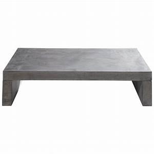 Table Basse En Beton : table basse de jardin en ciment effet b ton gris clair l 130 cm graphite maisons du monde ~ Farleysfitness.com Idées de Décoration