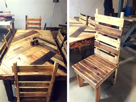 build a pallet dining table with cross legs