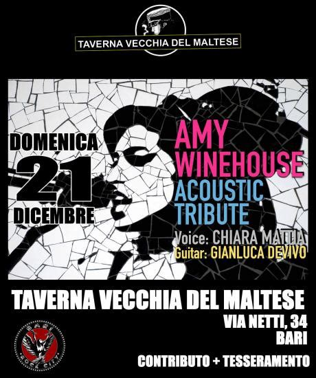 Tributo in Acustico ad Amy Winehouse Bari il Tacco di