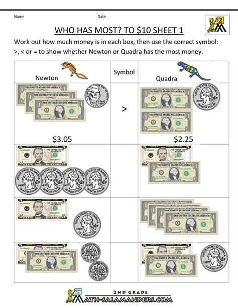 money worksheets money and worksheets on