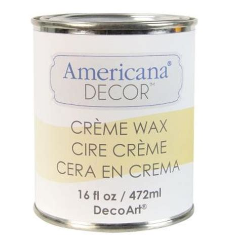 Americana Decor Creme Wax Application by Decoart Americana Decor 16 Oz Clear Creme Wax Adm01 22