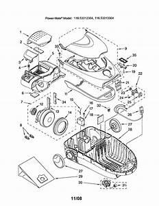 Vacuum Parts  Kenmore Parts Vacuum Model 116