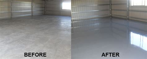 garage floor paint before and after rustseal rust paint