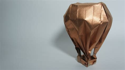 origami hot air balloon jason lin youtube