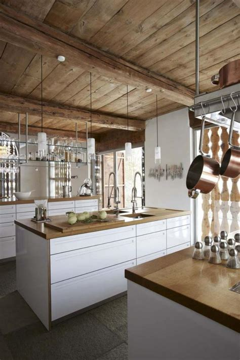 cuisine blanche et ophrey com cuisine blanche dans chalet prélèvement d