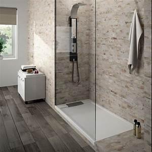 Receveur de douche a l39italienne extra plat bac a douche for Carrelage adhesif salle de bain avec led extra plat