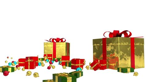 sale red gifts 3d animation with alpha channel stock