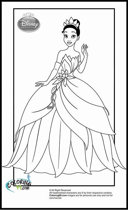 Coloring Disney Princess Pages Tiana Printable Frog