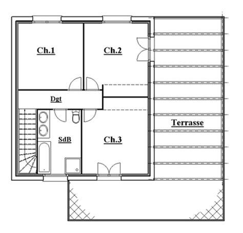 plan maison a etage 3 chambres plan maison etage 4 chambres gratuit plan maison etage 4