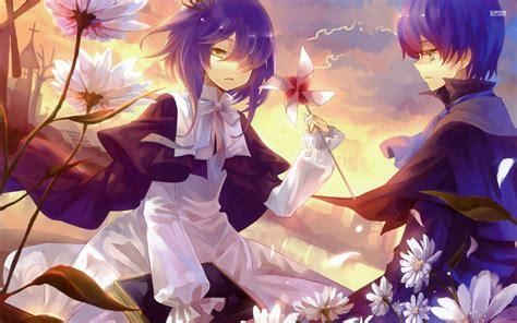 Anime Flower Wallpaper - boy and in flowers wallpaper anime wallpaper better
