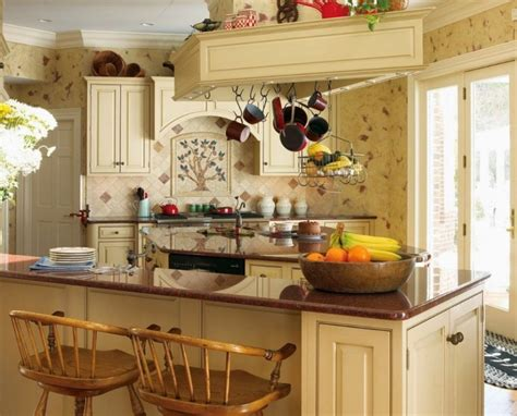 Country Kitchen Wall Decor With Decorative Plastic Flower