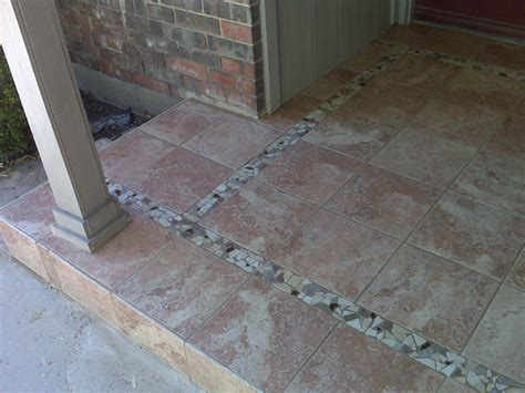 Porch Tiles Design Images by Dallas Projects Unlimited