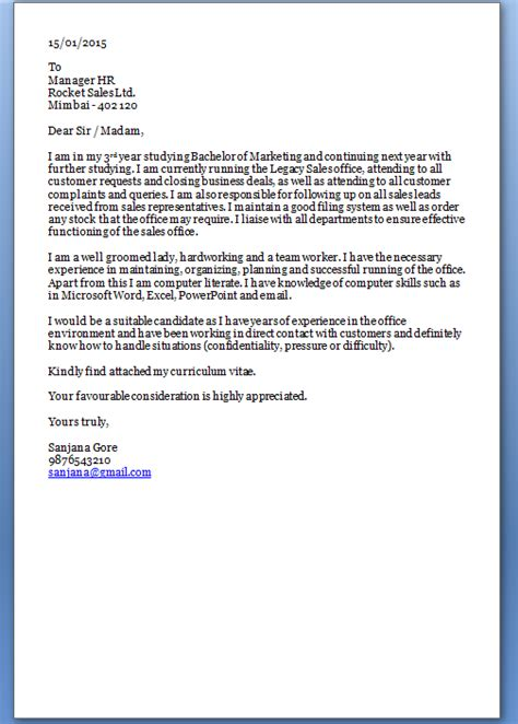 Cover Letter With Resume For Freshers by Simple Cover Letter