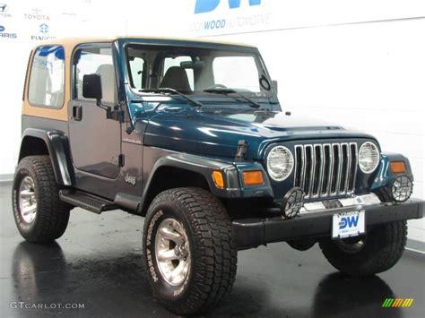 1997 emerald green pearl jeep wrangler se 4x4 12521316