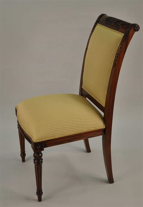 dining end chairs 8 high end gold leaf accented mahogany dining chairs 8 3328