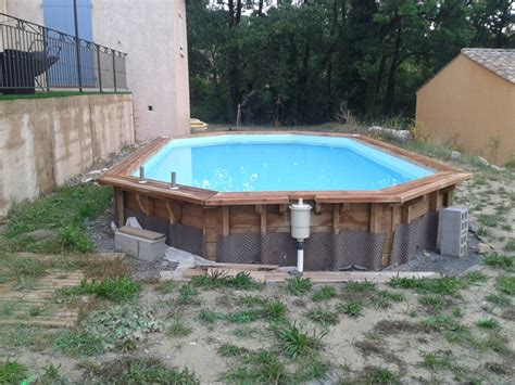 terrasse en bois composite sur pilotis terrasse bois en ip 233 piscine hors sol