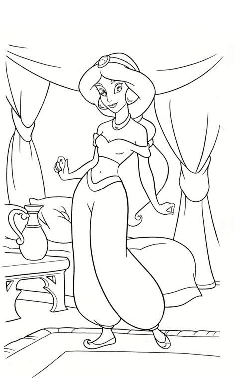 printable jasmine coloring pages disney princess