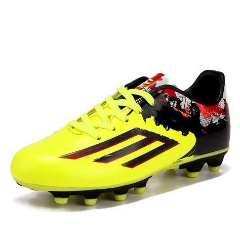 sepatu sepak bola sepatu bola pelatihan luar fg sepak bola anak anak laki laki botas de