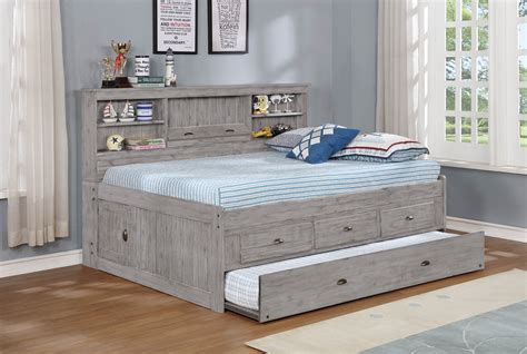 grey full bookcase daybed discovery world furniture