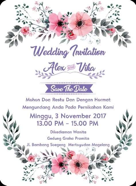 undangan pernikahan wedding invitation kode uno