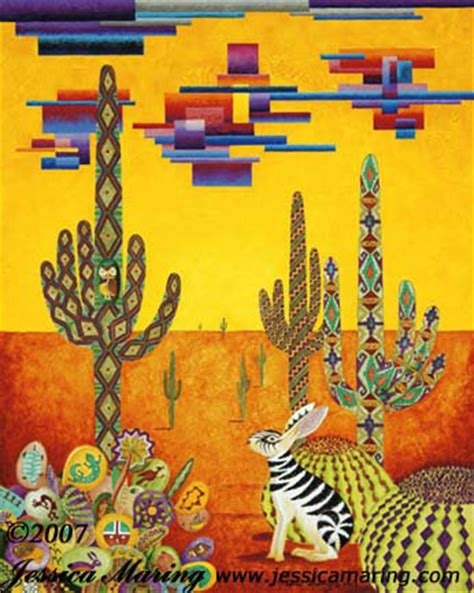 southwestern pictures southwestern zabbit a painting by jessica maring