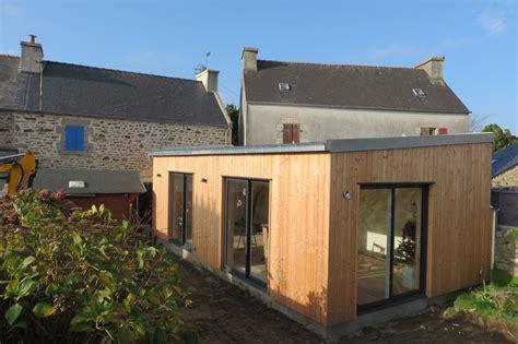 cuisine d été extérieure en extension bois finistère landéda maisons bois acacia