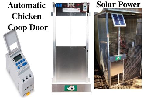 solar chicken door automatic chicken coop door opener with solar panel