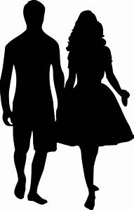 Clipart - Couple Holding Hands Silhouette