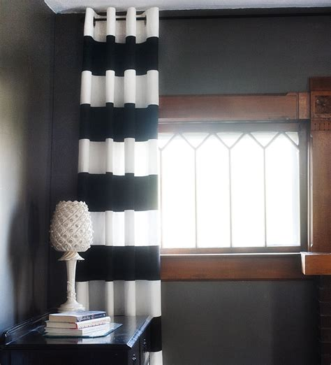 black and white striped curtains ikea diy striped curtains rooms
