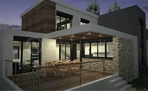 Maison Moderne Toit Plat : maison amanda plan de maison moderne par archionline ~ Nature-et-papiers.com Idées de Décoration
