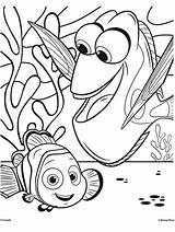 Coloring Crayola Nemo Dory Finding Pages sketch template