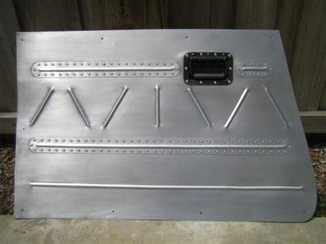 bomber style riveted metal door panel auto interiors