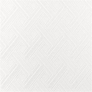 Superfresco White Diagonal Fan Paintable Wallpaper ...