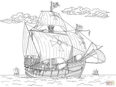 Drakenpoot Kleurplaat by Dibujo De Carabela Santa Mar 237 A Para Colorear Dibujos