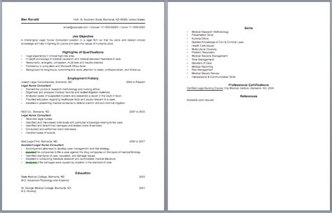 Comprehensive Resume Sle by Sle Of Comprehensive Resume For Nurses 51 Images