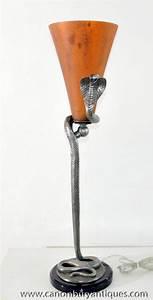art deco snake lamp floor light bronze edgar brandt ebay With art deco snake floor lamp