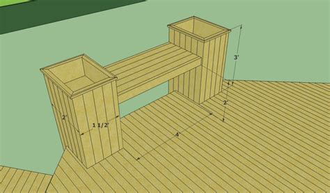 deck bench plans free howtospecialist floating deck plans free howtospecialist how to build