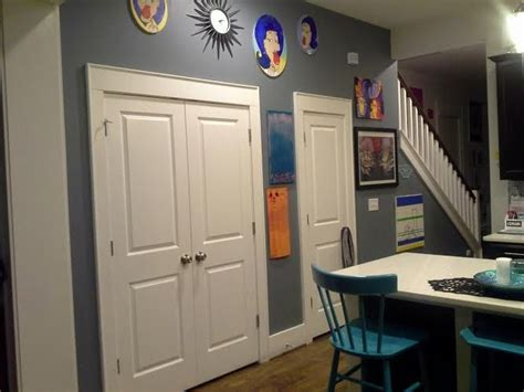 odd pantry wall  kitchen paint color sharkfin