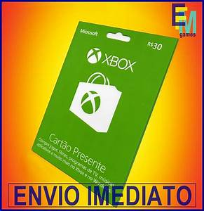Microsoft Gift Card R30 Reais Carto Presente Xbox Live